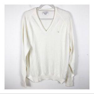 Christian Dior V-Neck Ivory Sweater - Size XL